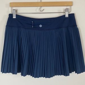 Lululemon Pleat to Street Skirt Inkwell Blue